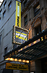 """Theatre Marquee  for """"David Byrne's American Utopia"""" at the Hudson Theatre on November 04, 2019 in New York City."""