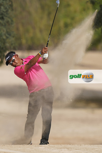 Thongchai Jaidee (THA) in action during the second round of the Omega Dubai Desert Classic, Emirates Golf Club, Dubai, UAE. 25/01/2019<br /> Picture: Golffile | Phil Inglis<br /> <br /> <br /> All photo usage must carry mandatory copyright credit (&copy; Golffile | Phil Inglis)