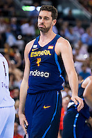 Spain's basketball player Pau Gasol during the  match of the preparation for the Rio Olympic Game at Madrid Arena. July 23, 2016. (ALTERPHOTOS/BorjaB.Hojas) /NORTEPHOTO.COM