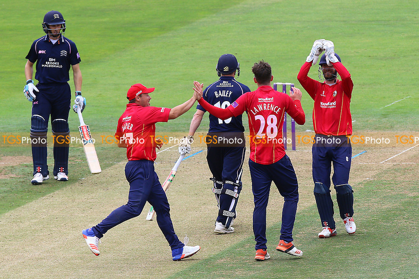 Daniel Lawrence of Essex celebrates taking the wicket of George Bailey during Middlesex vs Essex Eagles, Royal London One-Day Cup Cricket at Lord's Cricket Ground on 31st July 2016
