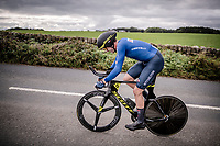 Edoardo Affini (ITA/Mitchelton-Scott)<br /> Elite Men Individual Time Trial<br /> from Northhallerton to Harrogate (54km)<br /> <br /> 2019 Road World Championships Yorkshire (GBR)<br /> <br /> ©kramon
