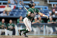 Greensboro Grasshoppers Right Fielder Ryan Goetz #10 swings at a pitch during game one of the South Atlantic League, Southern Division playoffs between the Greensboro Grasshoppers and the Asheville Tourists at McCormick Field on September 10, 2012 in Asheville, North Carolina . The Grasshoppers defeated the Tourists 6-3. (Tony Farlow/Four Seam Images).