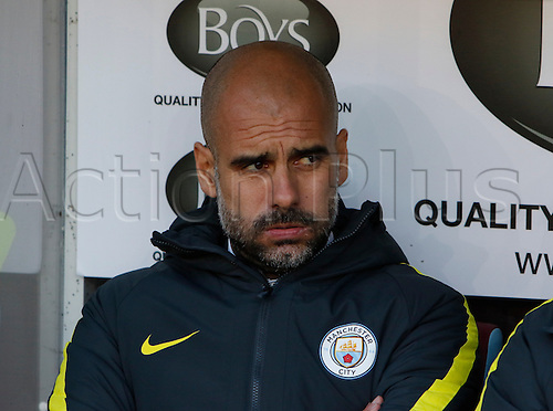 26.11.2016. Turf Moor, Burnley, England. Premier League Football. Burnley versus Manchester City. Manchester City manager Pep Guardiola in pensive mood before the game