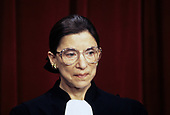 Associate Justice of the Supreme Court Ruth Bader Ginsburg poses for an official photo at the United States Supreme Court in Washington, DC on December 3, 1993.<br /> Credit: Ron Sachs / CNP