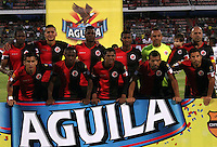 CUCUTA - COLOMBIA - 06 - 09 -2015: Los jugadores de Cucuta Deportivo posan para una foto durante partido entre Cucuta Deportivo y Alianza Petrolera, por la fecha 10 de la Liga Aguila II-2015, jugado en el estadio General Santander de la ciudad de Cucuta. / The players of Cucuta Deportivo pose for a photo during a match between Cucuta Deportivo and Alianza Petrolera, for the date 10of the Liga Aguila II-2015 at the General Santander Stadium in Cucuta city, Photo: VizzorImage / Manuel Hernandez/ Cont.