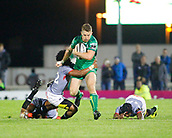 9th September 2017, Galway Sportsground, Galway, Ireland; Guinness Pro14 Rugby, Connacht versus Southern Kings; Oliver Zono (Southern Kings) stops Matt Healy (Connacht)
