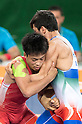(L-R) Shinobu Ota (JPN), Hamid Mohammad Soryan (IRI), AUGUST 14, 2016 - Wrestling : Shinobu Ota of Japan competes against Hamid Mohammad Soryan of Iran during the Rio 2016 Olympic Games Men's Greco-Roman 59kg Qualification at Olympic Training Center Hall 3 in Rio de Janeiro, Brazil. (Photo by Enrico Calderoni/AFLO SPORT)