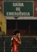 SAO PAULO SP, 31 Julho 2013 - PORTUGUESA  X CRICIUMA -  jogadores da Portuguesa deixam o campo apos  partida contra o Criciuma valida pelo campeonato brasileiro de 2013  no Estadio do Caninde em  Sao Paulo, nesta quarta, 31. (FOTO: ALAN MORICI / BRAZIL PHOTO PRESS).