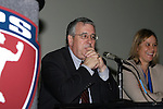 19 January 2008: Boston Breakers President and General Manager Joe Cummings and Chicago General Manager Marcia McDermott. Women's Professional Soccer held a Town Hall Meeting at the 2008 National Soccer Coaches Association of America's annual convention being held at the Convention Center in Baltimore, Maryland.