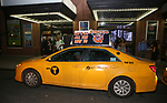 taking the 'Avenue Q' - 15th Anniversary Performance Taxi Cab at New World Stages on July 31, 2018 in New York City.