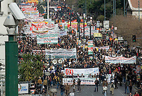 A general strike is called in Greece over austerity measures being proposed by the European Union following the ratification of the Lisbon treaty. Tens of thousands of workers, Trade Unionists,immigrants and activists take to the streets for a mass protest.