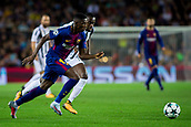 12th September 2017, Camp Nou, Barcelona, Spain; UEFA Champions League Group stage, FC Barcelona versus Juventus; Ousmane Dembélé of FC Barcelona dribble the Juventus defense