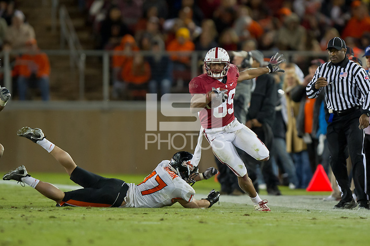 STANFORD, CA - November 27, 2010: Doug Baldwin during a game against Oregon State University in Stanford, California. Stanford won 38-0.