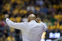 BERKELEY, CA - February 22, 2017: Cal Bears Men's Basketball team vs. the Oregon Ducks at Haas Pavilion. Final score, Cal Bears 65, Oregon Ducks 68.