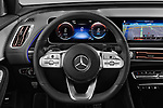 Car pictures of steering wheel view of a 2019 Mercedes Benz EQC AMG-Line 5 Door SUV