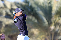 Francesco Laporta (ITA) on the 14th tee during the 2nd round of the Abu Dhabi HSBC Championship, Abu Dhabi Golf Club, Abu Dhabi,  United Arab Emirates. 17/01/2020<br /> Picture: Fran Caffrey   Golffile<br /> <br /> <br /> All photo usage must carry mandatory copyright credit (© Golffile   Fran Caffrey)