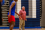 WATERBURY, CT. 05 December 2018-120518 - Crosby High Head basketball coach Nick Augelli yells out instructions to his players during pre season practice before the start of the 2018-2019 season at Crosby High School in Waterbury on Wednesday. Bill Shettle Republican-American