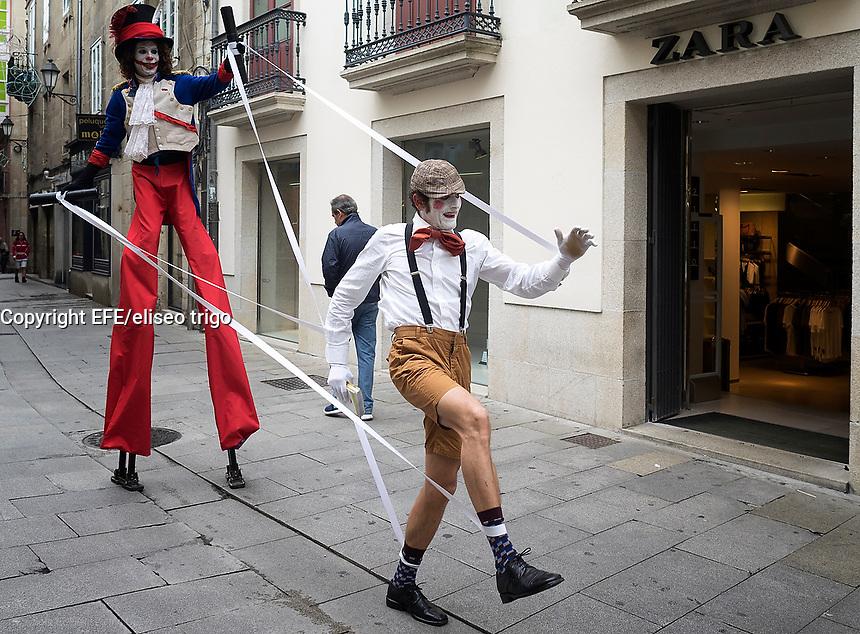 Fecha: 04-10-2014. LUGO.- Fiestas de San Froilan, representación teatral en una calle de Lugo