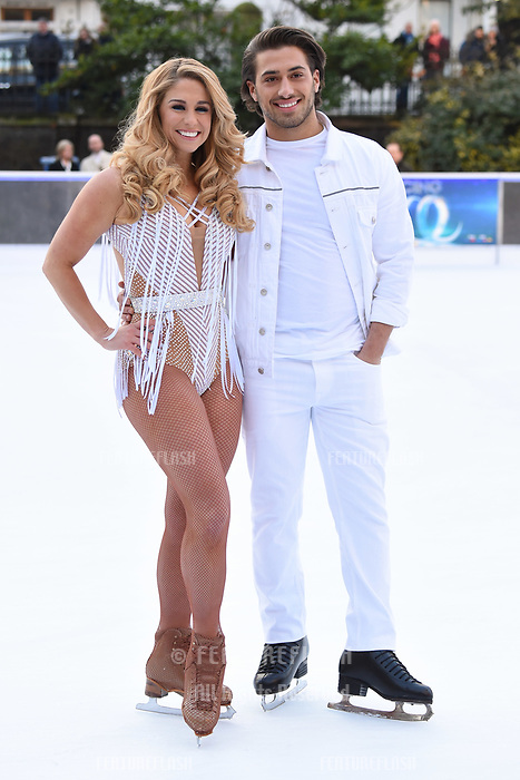Kem Cetinay &amp; Alex Murphy&nbsp; at the &quot;Dancing on Ice&quot; launch photocall at the Natural History Museum, London, UK. <br /> 19 December  2017<br /> Picture: Steve Vas/Featureflash/SilverHub 0208 004 5359 sales@silverhubmedia.com