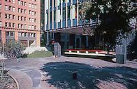 San Francisco: Sunken Plaza between Crown Zellerbach & small Wells Fargo Bank.