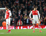 Arsenal's Alexis Sanchez looks on dejected after going 3-1 down<br /> <br /> Champions League - Arsenal  vs AS Monaco  - Emirates Stadium - England - 25th February 2015 - Picture David Klein/Sportimage
