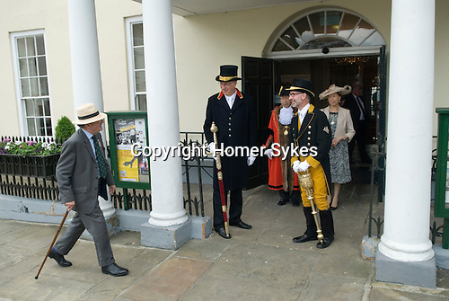 Jankyn Smyth Cake and Ale ceremony at the Guildhall Bury St Edmunds Suffolk 2015. before the start of the civic procession from the Athenaeum to St Mary's Church.
