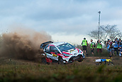5th October 2017, Costa Daurada, Salou, Spain; FIA World Rally Championship, RallyRACC Catalunya, Spanish Rally; Juho HANNINEN - Kaj LINDSTROM Toyota Gazoo Racing WRT jumps during the shakedown