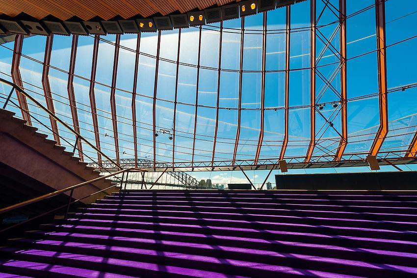Interior view, Sydney Opera House, Bennelong Point, Sydney, New South Wales, Australia
