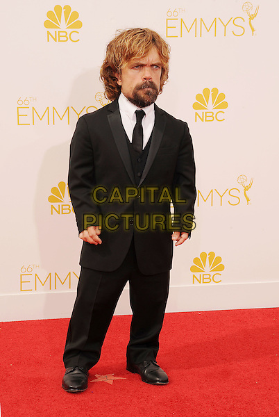LOS ANGELES, CA- AUGUST 25: Actor Peter Dinklage arrives at the 66th Annual Primetime Emmy Awards at Nokia Theatre L.A. Live on August 25, 2014 in Los Angeles, California.<br /> CAP/ROT/TM<br /> &copy;Tony Michaels/Roth Stock/Capital Pictures
