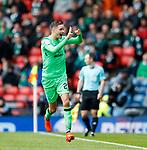 Mikael Lustig celebrates his second goal for Celtic