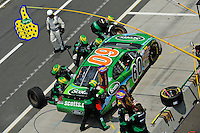 04/20/08 Mexico City .Carl Edards pits his Ford Fusion while on his way to 4th.