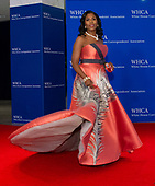 Omarosa Manigault arrives for the 2018 White House Correspondents Association Annual Dinner at the Washington Hilton Hotel on Saturday, April 28, 2018.<br /> Credit: Ron Sachs / CNP<br /> <br /> (RESTRICTION: NO New York or New Jersey Newspapers or newspapers within a 75 mile radius of New York City)