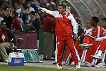 11 October 2008: Cuba head coach Reinhold Fanz (GER). The United States Men's National Team defeated Cuba Men's National Team 6-1 at RFK Stadium in Washington, DC in a CONCACAF semifinal round FIFA 2010 South Africa World Cup Qualifier.