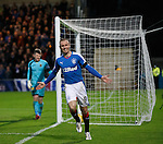 Kenny Miller celebrates after heading past keeper Mark Brown for the second goal