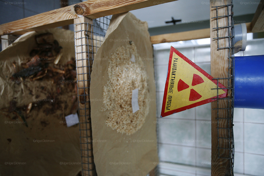 Chernobyl Exclusion Zone, Belarus.  Ecological reserve, Polisye State Education and ecological testing centre for radioacvtovity in  plants. Evacuated region designated as high risk for contamination of nuclear radiation. Homes are left derelict. The region has  become a natural wildlife reserve. It is controled by rangers, otherwise it is uninhabited. One of biggest dangers is a forest fire which could move large quantities of radioactivity by airborn means to areas otherwise unaffected.