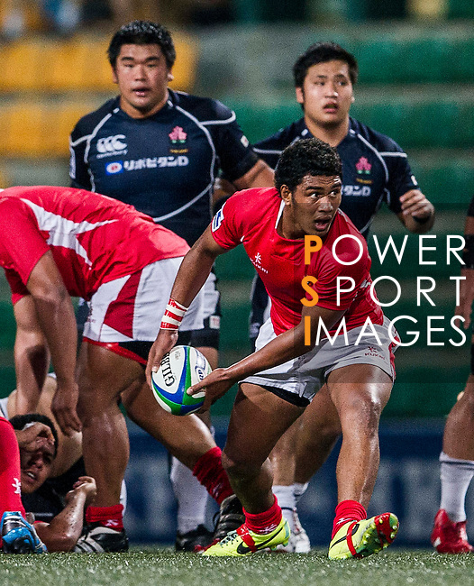Tonga vs Japan during the Day 4 of the IRB Junior World Rugby Trophy 2014 at the Hong Kong Football Club on April 15, 2014 in Hong Kong, China. Photo by Xaume Olleros / Power Sport Images