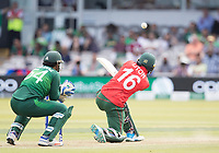 Liton Das (Bangladesh) lofts over mid wicket for four runs during Pakistan vs Bangladesh, ICC World Cup Cricket at Lord's Cricket Ground on 5th July 2019