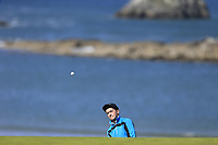 Michael Joseph Kennelly (NUI Galway) during the final of the Irish Students Amateur Open Championship, Tralee Golf Club, Tralee, Co Kerry, Ireland. 12/04/2018.<br /> Picture: Golffile | Fran Caffrey<br /> <br /> <br /> All photo usage must carry mandatory copyright credit (&copy; Golffile | Fran Caffrey)