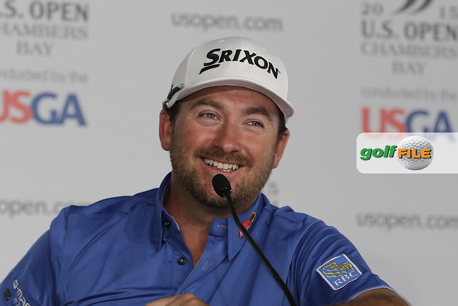 Graeme McDOWELL (NIR) press conference during Tuesday's Practice Day of the 2015 U.S. Open 115th National Championship held at Chambers Bay, Seattle, Washington, USA. 6/16/2015.<br /> Picture &copy; Golffile/Eoin Clarke