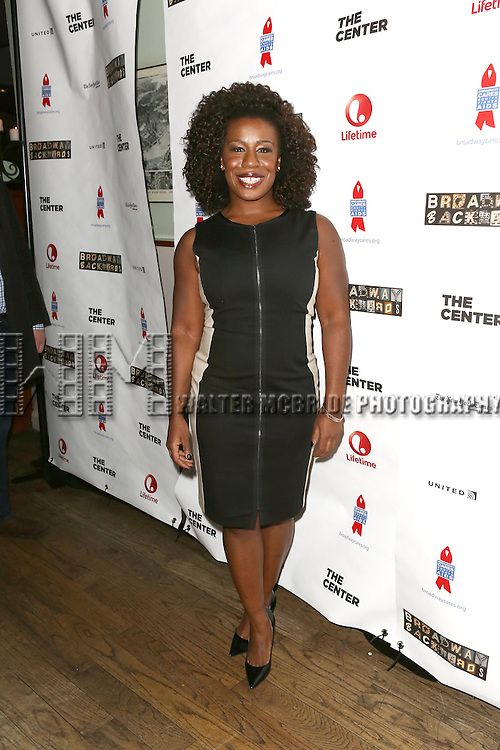 "Uzo Aduba attends the ""Broadway Backwards"" After Party Reception  at John's Restaurant on March 24, 2014 in New York City."