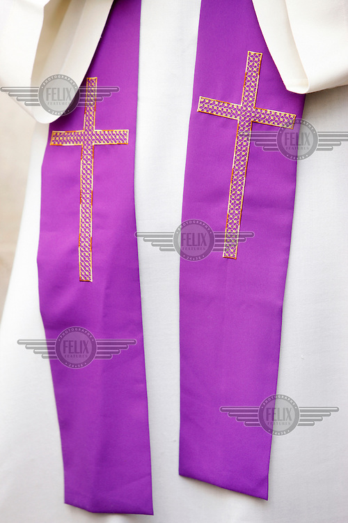 A religious garment worn during Easter Week.