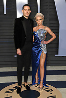 04 March 2018 - Los Angeles, California - G-Eazy, Halsey. 2018 Vanity Fair Oscar Party hosted following the 90th Academy Awards held at the Wallis Annenberg Center for the Performing Arts. <br /> CAP/ADM/BT<br /> &copy;BT/ADM/Capital Pictures