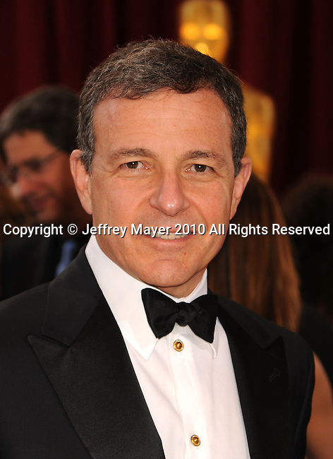 HOLLYWOOD, CA. - March 07: Disney Studios CEO Robert Iger  arrives at the 82nd Annual Academy Awards held at the Kodak Theatre on March 7, 2010 in Hollywood, California.