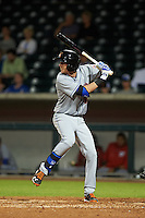 Salt River Rafters second baseman Jeff McNeil (10) at bat during an Arizona Fall League game against the Mesa Solar Sox on October 23, 2015 at Sloan Park in Mesa, Arizona.  Salt River defeated Mesa 5-1.  (Mike Janes/Four Seam Images)