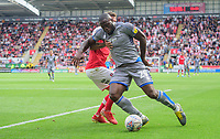 Lincoln City's John Akinde vies for possession with Rotherham United's Joe Mattock<br /> <br /> Photographer Chris Vaughan/CameraSport<br /> <br /> The EFL Sky Bet Championship - Rotherham United v Lincoln City - Saturday 10th August 2019 - New York Stadium - Rotherham<br /> <br /> World Copyright © 2019 CameraSport. All rights reserved. 43 Linden Ave. Countesthorpe. Leicester. England. LE8 5PG - Tel: +44 (0) 116 277 4147 - admin@camerasport.com - www.camerasport.com