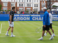 ANDY MURRAY (GBR), IVAN LENDL, JAMIE DELGADO<br /> <br /> TENNIS - AEGON CHAMPIONSHIPS - QUEENS - ATP - ATP500 - CHAMPIONSHIPS-GRASS - LONDON - UNITED KINGDOM - 2016  <br /> <br /> <br /> <br /> &copy; TENNIS PHOTO NETWORK
