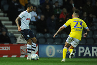 Preston North End's Lukas Nmecha under pressure from Leeds United's Kalvin Phillips<br /> <br /> Photographer Kevin Barnes/CameraSport<br /> <br /> The EFL Sky Bet Championship - Preston North End v Leeds United -Tuesday 9th April 2019 - Deepdale Stadium - Preston<br /> <br /> World Copyright &copy; 2019 CameraSport. All rights reserved. 43 Linden Ave. Countesthorpe. Leicester. England. LE8 5PG - Tel: +44 (0) 116 277 4147 - admin@camerasport.com - www.camerasport.com