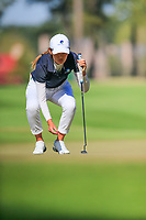 Julienne Soo (AUS) on the 1st during the second round of the Augusta National Womans Amateur 2019, Champions Retreat, Augusta, Georgia, USA. 04/04/2019.<br /> Picture Fran Caffrey / Golffile.ie<br /> <br /> All photo usage must carry mandatory copyright credit (&copy; Golffile | Fran Caffrey)