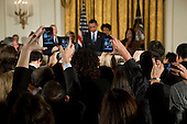 Washington, DC - October 28, 2009 -- Guests take pictures during a reception commemorating the enactment of the Matthew Shepard and James Byrd Jr. Hate Crimes Prevention Act, in the East Room of the White House, October 28, 2009. .Mandatory Credit: Chuck Kennedy - White House via CNP