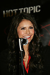 Vampire Diaries star Nina Dobrev on January 30, 2010 during the Hot Topic Tour at the Westfield Garden State Plaza, Paramus, New Jersey where they signed autographs and held a Q & A session for a huge number of fans. (Photo by Sue Coflin/Max Photos)
